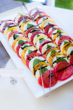 Layered Heirloom Tomato Caprese   photo by The Youngrens