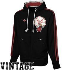 fea8a4a62 adidas Miami Heat Springfield Fleece Full Zip Hoodie Sweatshirt - Black