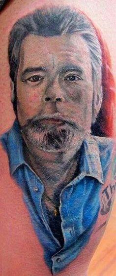 A portrait of Stephen King #literarytattoos
