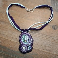 Bead embroidered necklace  A Mermaid's Treasures  by JirikiDesigns, €115.00