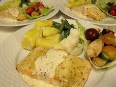 Filets de saumon à la moutarde