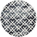 Dip Dye Graphite/Ivory (Grey/Ivory) 7 ft. x 7 ft. Round Area Rug