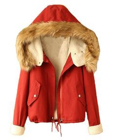 Preppy Style Lambswool Lined Hooded Parka  coat  jacket  fur  hood  clothing b374cfcd87