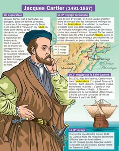 Science infographic and charts Jacques Cartier Infographic Description A French navigator who explored the Saint Lawrence River, which allowed France to lay claim to lands that would become Canada. Jacques Cartier, Ap French, Learn French, French Kids, Ancient World History, French Classroom, French Language Learning, Spanish Language, Socialism