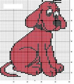 Clifford hama perler beads pattern