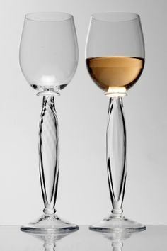 Magnolia Wine glass by Borek Sipek. At the Hans Krug showroom in Charlotte, NC.