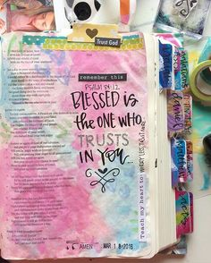 Bible Journaling by Valerie Wieners-Massie @valeriewieners