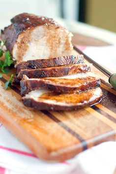 Marinated Pork Loin from @Lana Stuart | Never Enough Thyme http://www.lanascooking.com/2013/04/09/marinated-pork-loin/
