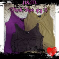 """Selling this """"H&M Tank Tops Size Large qty 3"""" in my Poshmark closet! My username is: ahindle78. #shopmycloset #poshmark #fashion #shopping #style #forsale #H&M #Tops"""