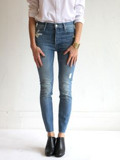 MOTHER Stunner Ankle Fray Jeans - Google Search