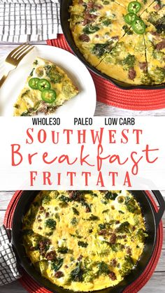 Southwest Breakfast Frittata: a quick & easy Whole30/Paleo meal