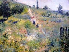 """Картинная галерея ОНЛАЙН: Пьер Огюст Ренуар """"Тропинка в высокой траве"""" (1874)"""