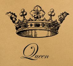 Queen crown Digital Image Download Sheet Transfer To Pillows T-Shirt Towels Burlap Bag or Print on paper, etc. Item A0321. $1.00, via Etsy.