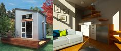 A groundbreaking eco-conscious micro home, proudly manufactured in British Columbia, Canada and easy to assemble at home. Living area, kitchen, bathroom and sleeping area all seamlessly integrated...