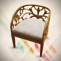 Richly Carved Sofa Chair