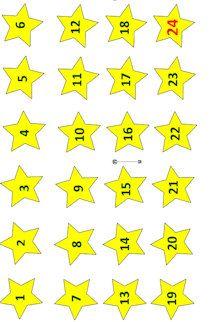 Sterne und Zahlen für den Adventskalender