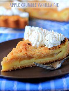 apple crumble vanilla pie