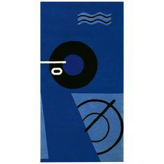 Eileen Gray Western European Rug - Classicon Blue Marine German Modern Wool