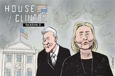 Hillary and Bill © Patrick Chappatte, Le Temps, Switzerland 4/15/15