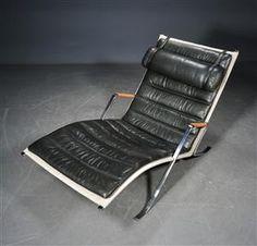 Lænestole - køb og salg af moderne, nyt, antikke og brugte - Fabricius Kastholm, Chaiselong model FK87, Grasshopper - DK, Odense, Kratholmvej