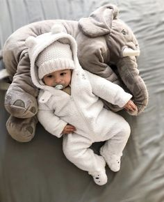 Baby Elephant Pillow baby essentials photo props Cute Elephant Cushion - Great for lounging or decoration. 24 inches) Material : Cotton / Polyester Warning: Babies should be supervised at all times when using or playing with thi So Cute Baby, Cute Baby Pictures, Cute Baby Clothes, Babies Clothes, Newborn Winter Clothes, Winter Newborn, Babies Stuff, Baby Love, Baby Elefant