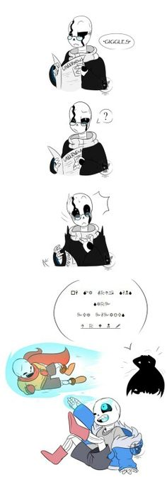 """Happens when your oldest always uses their powers *shrugs* """"Oh my gosh sans Stop Put papyrus Down!"""""""