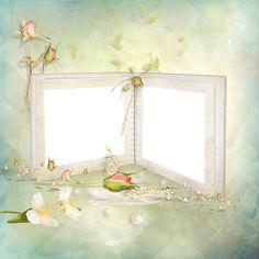Beautiful Pastel Double Transparent Frame