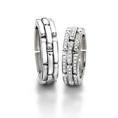 Sculptures Without Diamonds 	 Reference 	71-22760-0-0 Width in mm 	6.00 Alloy/Color 	750 white gold Diamond 	Not applicable $6270 white gold http://www.michaelcfina.com/engagement-wedding-rings/wedding-bands/furrer-jacot-18k-white-gold-60mm-link-wedding-band-71-22760-0-0-6W.html