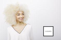 Platinum blonde afro curly natural big hair 3c
