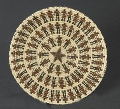 Pima/Tohono O'odham Horse Hair Basket with 78 Men and Women, - Cowan's Auctions