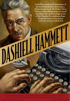 Dashiell Hammett cover art by Owen Smith Book Cover Art, Comic Book Covers, Hard Boiled Detective, Dashiell Hammett, Writers Help, Reading Library, Classic Books, Paperback Books, Ink
