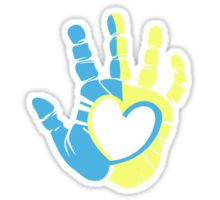 Down Syndrome Awareness Hand Sticker