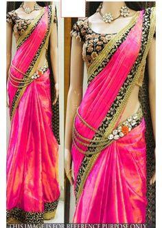U Wedding Partywear Sari Designer Traditional Indian Bollywood Saree Ethnic Bollywood Designer Sarees, Latest Designer Sarees, Bollywood Saree, Red Saree, Orange Saree, Bollywood Fashion, Fancy Sarees, Party Wear Sarees, Indian Dresses