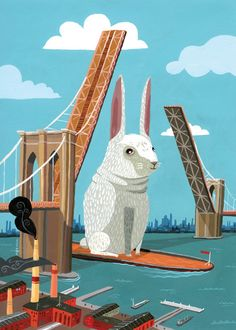 Brooklyn Bunny by Aaron Meshon