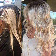 Hair Color Trends In 2019 Before & After: Highlights On Hair + Tips;Trendy Hairstyles And Colors Women Hair Colors; Night Hairstyles, Curled Hairstyles, Trendy Hairstyles, Hair Color For Women, Cool Hair Color, 50 Hair, Curls Hair, Hair Color Highlights, Gold Highlights
