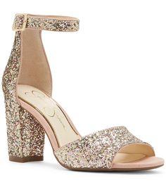 f750ebe738e Jessica Simpson Sherron2 Glitter Sandals  Dillards Glitter Sandals