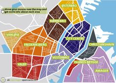 Copenhagen Map, Copenhagen Apartment, Scandinavian Architecture, Holiday Apartments, City Maps, Study Abroad, European Travel, The Neighbourhood, Northern Lights