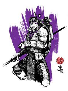 Donatello - TMNT 2014 by EvanLimberger on DeviantArt Tenage Mutant Ninja Turtles, Teenage Ninja Turtles, Ninja Turtles Art, Teenage Mutant Ninja, Dope Cartoon Art, Dope Cartoons, Turtle Sketch, Tmnt Swag, Scary Movies