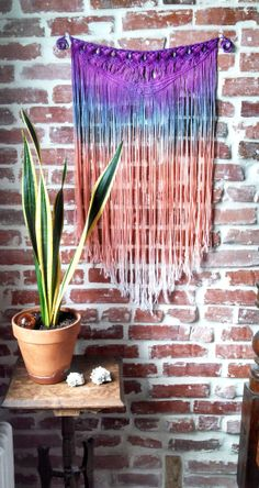 Macrame Wall Hanging by SlowDownProductions on Etsy, $82.00