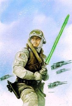 Star Wars - Dave Dorman Art - Luke Skywalker on Hoth Star Wars Film, Star Wars Episoden, Mara Jade, Alec Guinness, Saga, Episode Iv, Star War 3, Cinema, The Empire Strikes Back