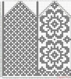 Amy Bedell's media statistics and analytics Knitting Charts, Knitting Stitches, Knitting Patterns Free, Stitch Patterns, Knitted Mittens Pattern, Knit Mittens, Knitting Socks, Crochet Chart, Filet Crochet