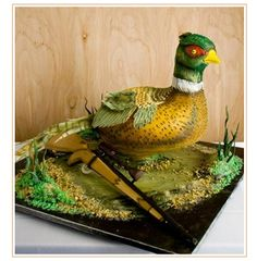 Awesome idea for the groom's cake. Cupcake Birthday Cake, 60th Birthday Party, Cupcake Cookies, Beautiful Cakes, Amazing Cakes, Groomsman Cake, Duck Cake, Crazy Cakes, Cakes For Men
