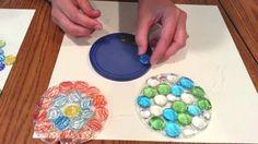 Glass gem suncatchers...Mother's Day gift idea for preschool students