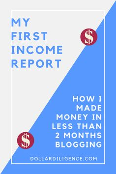 My First Blog Income Report: How I Made Money in less than 2 months