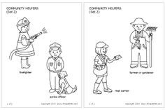 Community Helpers & People's Jobs | Printable Templates & Coloring Pages | FirstPalette.com