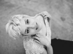 Asterisk Photography » Portrait session. Platinum blonde pixie cut. B&W.