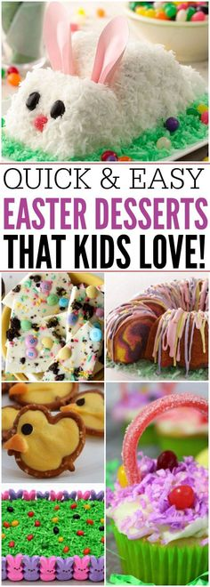 Here are 16 Quick and Easy Easter Dessert Recipes That Everyone will Adore! These kid friendly Easter desserts are fun to make with the family.