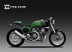 Motosketches: COLOVE V2 900 CAFE' RACER Classic Series, Motorcycle Design, Bike Design