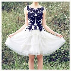 ITEM #2198 - Lace Embroidery Dress US$74 Free Shipping Worldwide   PENNYHOWARD FASHION : Free Shipping Worldwide
