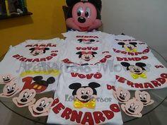 camisa para familia tema Mickey e Minnie watts 4199239977